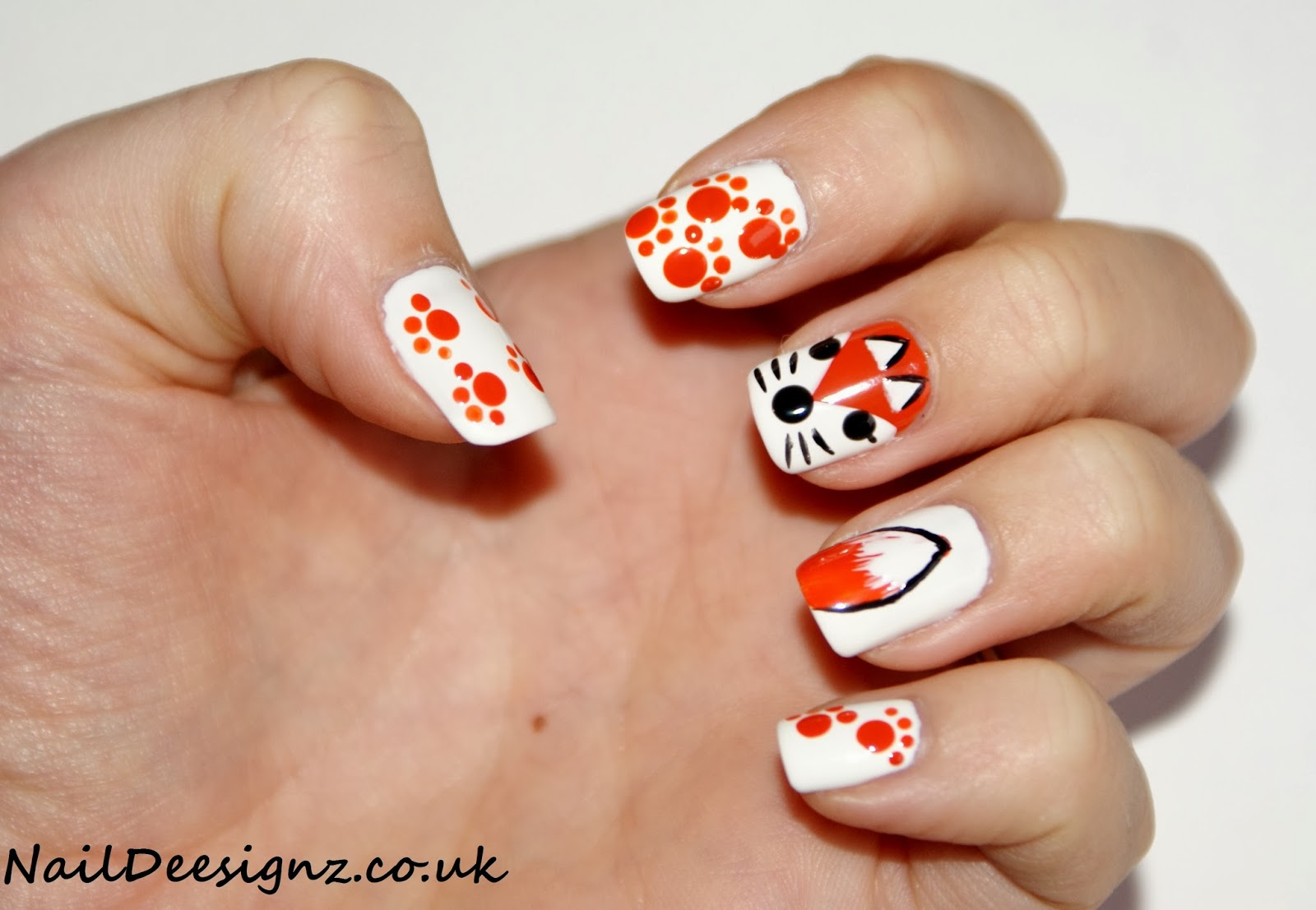 NailDeesignz: Fox Nail Art
