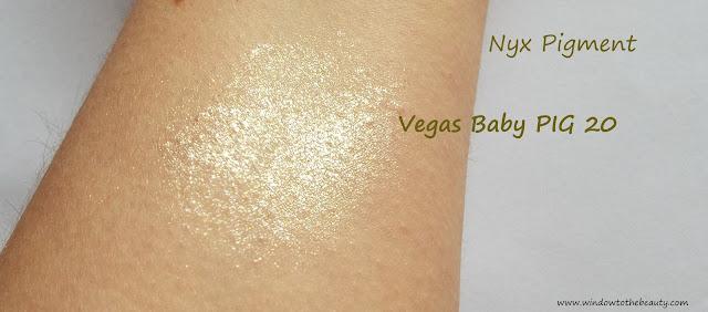 nyx Vegas Baby pigment swatch