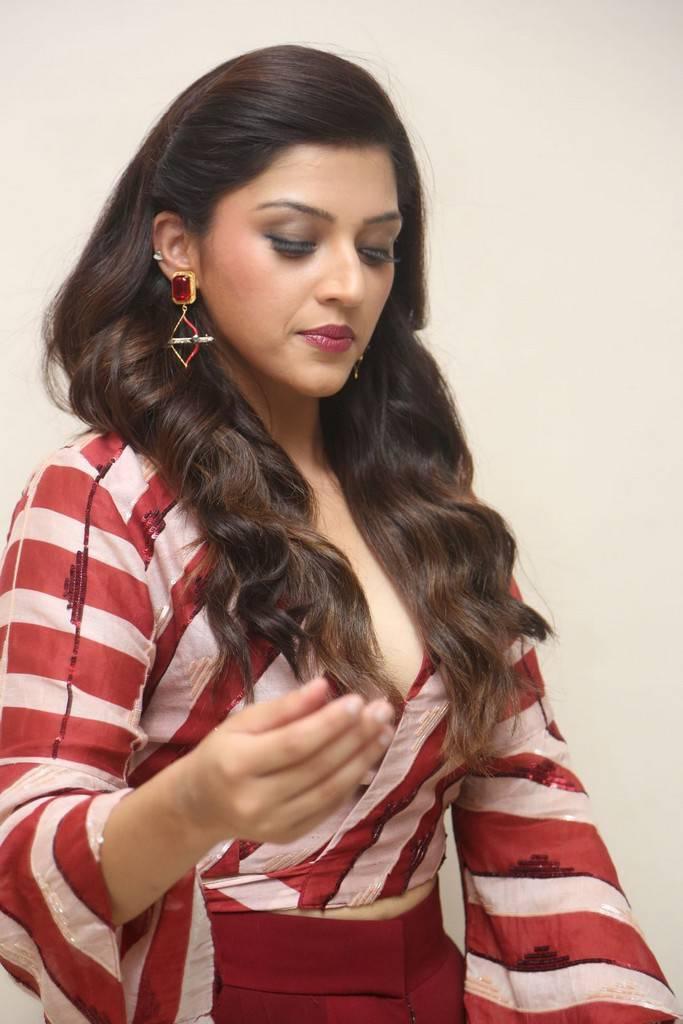 Mehreen Kaur At Mahanubhavudu Movie Trailer Launch Stills