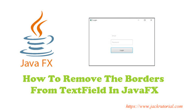 How To Remove The Borders From TextField In JavaFX?