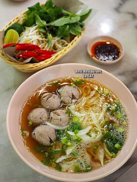 Nguyens Retail Park Vietnamese Restaurant Menu - Handmade Beef Ball  Pho