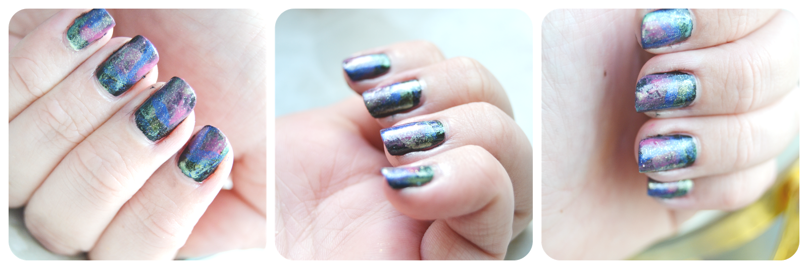 Nagellack Tutorial Galaxy Nails Nägel OPI Essie P2 Anny Sally Hansen
