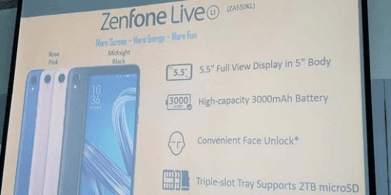 ASUS launches ZenFone Live L1, an Android Go phone!