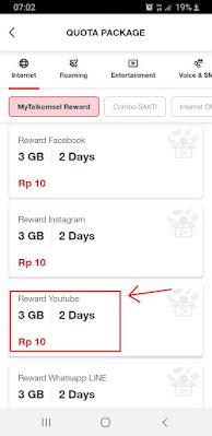 Cara Mendapatkan MyTelkomsel Reward Serba Rp 10 Lengkap