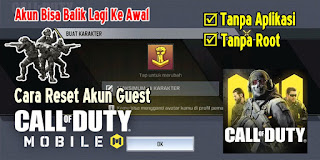 Cara Reset Akun Guest Call of Duty Mobile Garena Tanpa Aplikasi