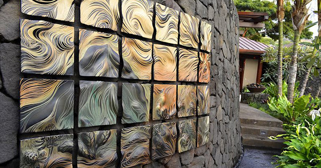 keramik dinding depan rumah