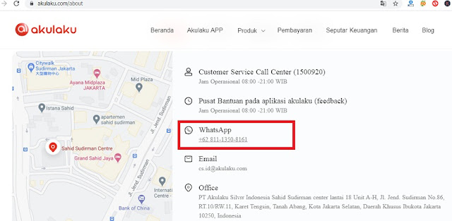 No WhatsApp Akulaku Resmi