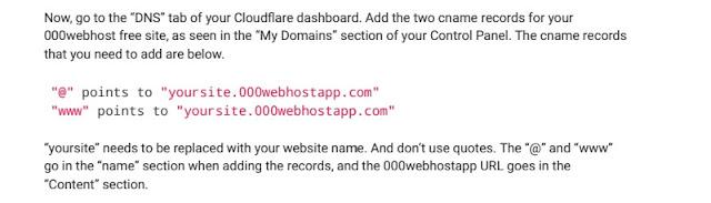 000webhost DNS records