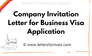 Sample Company Invitation Letter for Business Visa Application