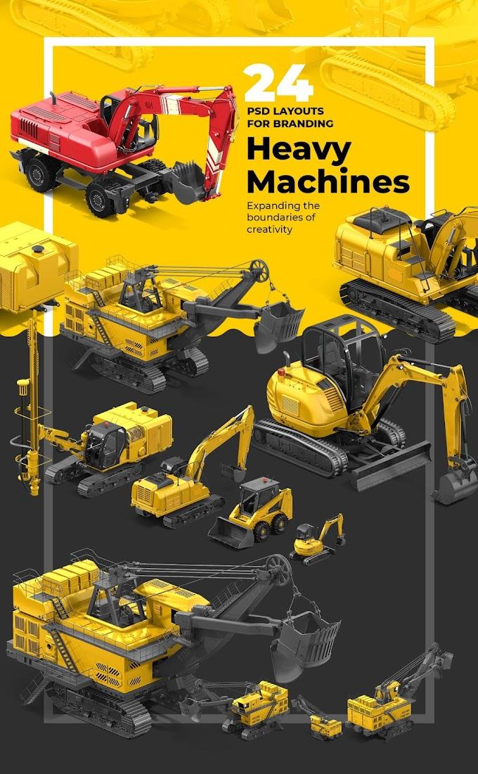 PSD Heavy Machines Mockup 360 PRO #03[Photoshop][68166]