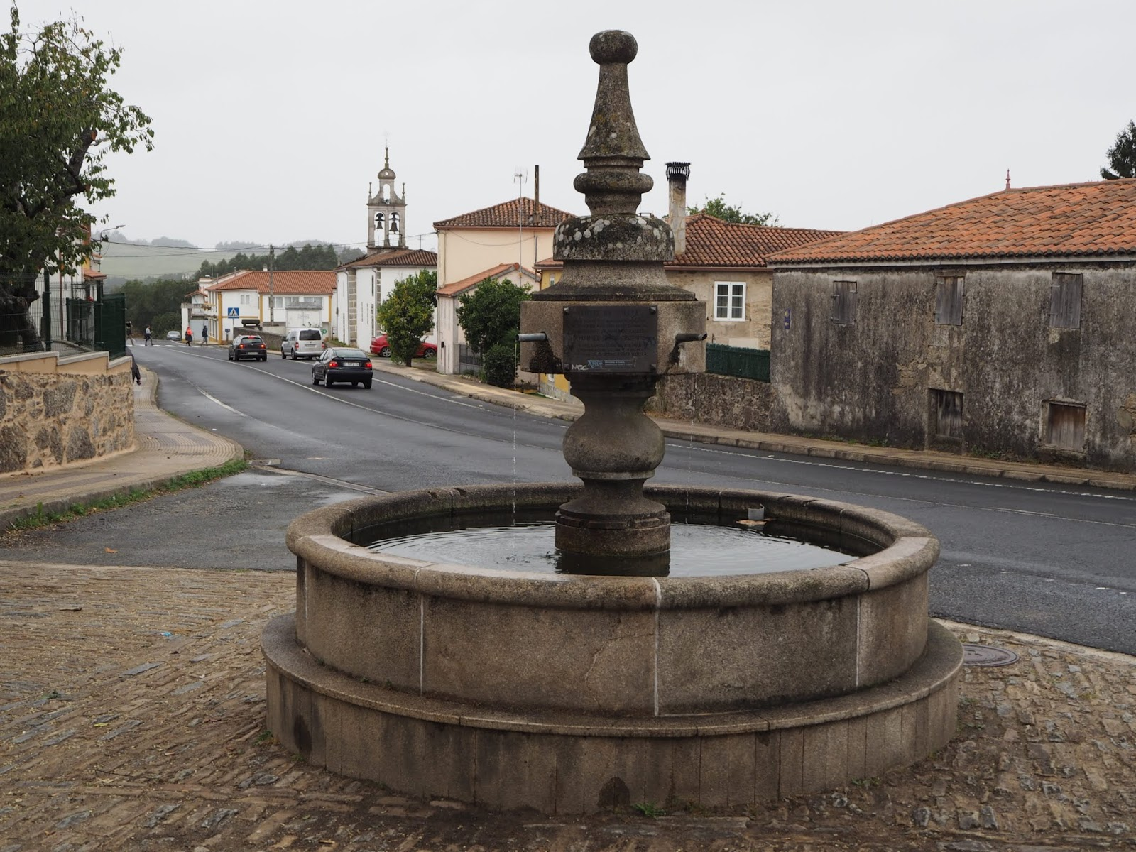 village boente with chapel on the camino frances