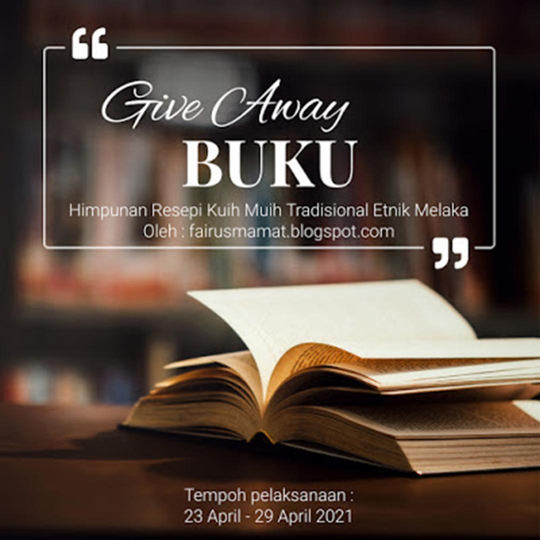 Giveaway Buku Himpunan Kuih Muih Tradisional Etnik Melaka