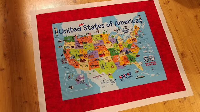 Adding borders to USA panel quilt