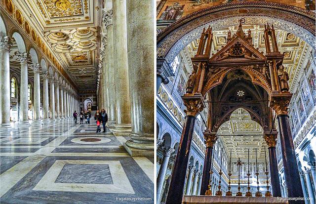 Baldaquino da Basílica de São Paulo Extramuros, em Roma
