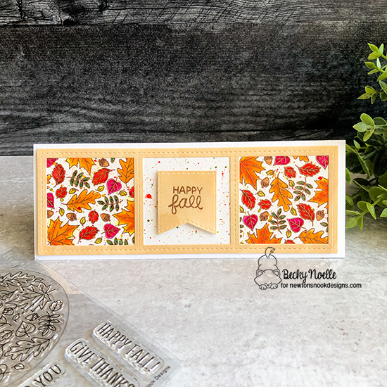 Happy Fall by Becky features Fall Roundabout, Harvest Tails, and Slimline Frames & Windows by Newton's Nook Designs; #newtonsnook