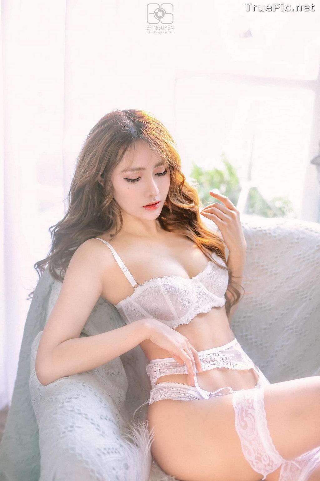 Image Vietnamese Model - Nguyen Thi Phi Yen - Beautiful Sexy White Lingerie - TruePic.net - Picture-11