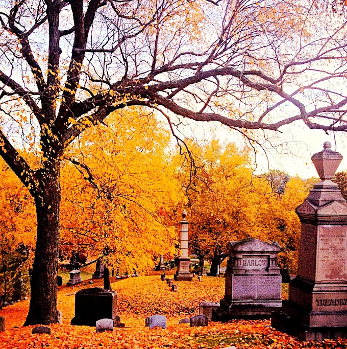 A Riverside Cemetery Autumn