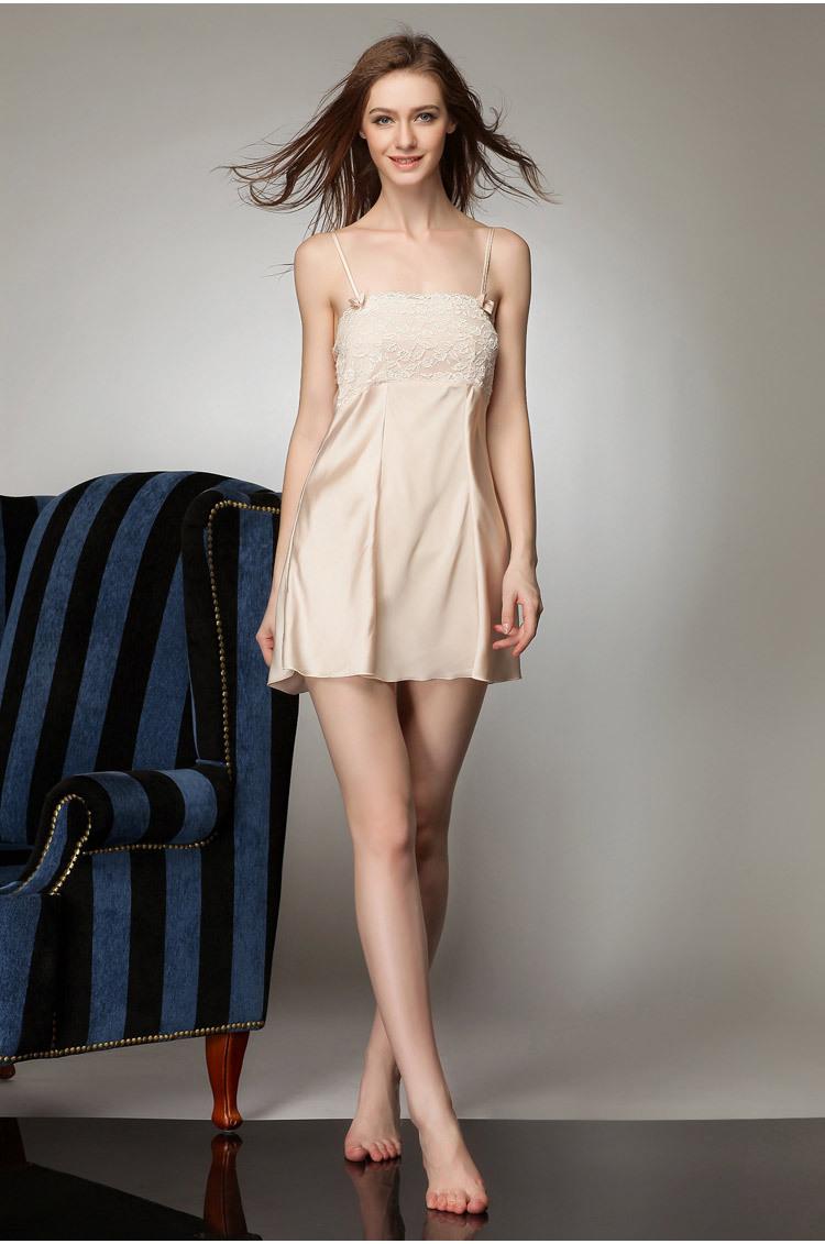 Áo choàng kèm váy lụa cup ngực cao cấp 7