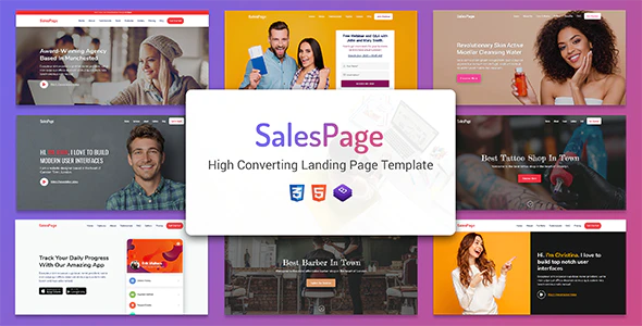 Responsive Multipurpose Landing Page Template