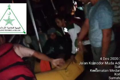 Sepi Pemberitaan... FPI Sumut Evakuasi Korban Banjir Di Medan