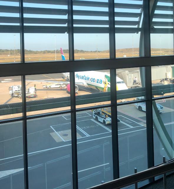 Durban airport, FlySafair plane