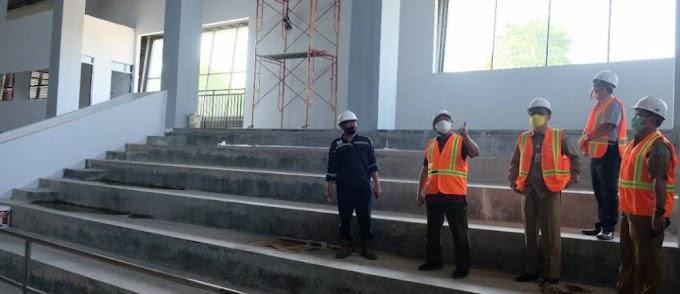 Pembangunan GOR Tahap II Capai 77 Persen