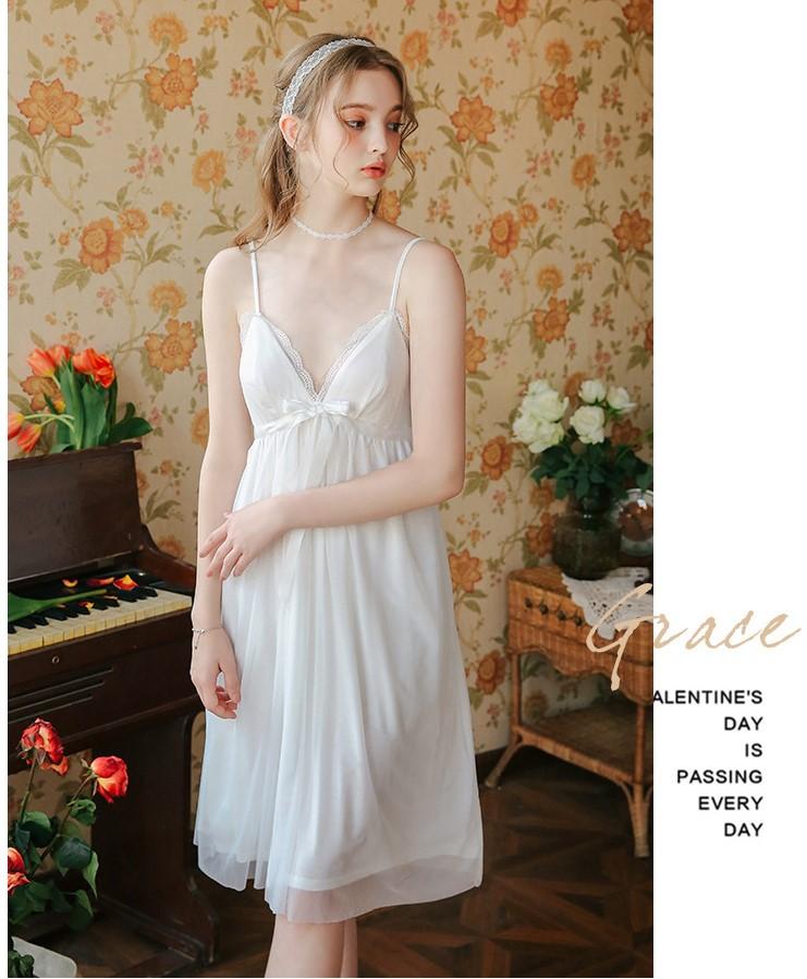 Váy ngủ tiểu thư dễ thương nhẹ nhàng 3