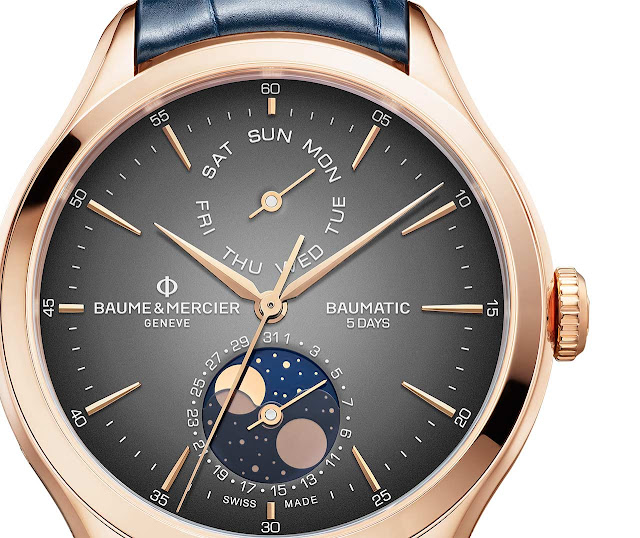 Baume et Mercier Clifton Baumatic Day-Date Moonphase