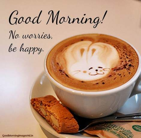 Good morning coffee images with message