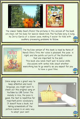 Activity ideas with a picnic theme!