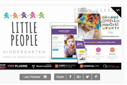 Download Theme Wordpress PreScool And Play School
