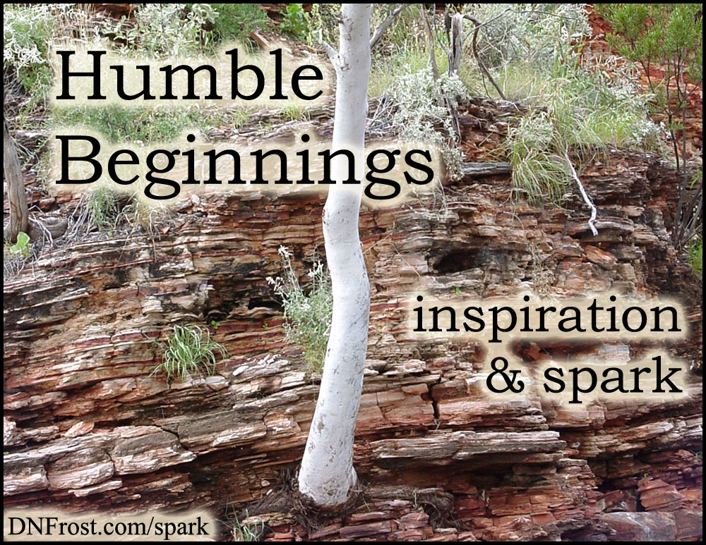 Humble Beginnings: my first brush with poetry http://www.dnfrost.com/2017/01/humble-beginnings-inspiration-spark.html #TotKW Inspiration and spark by D.N.Frost @DNFrost13 Part 1 of a series.