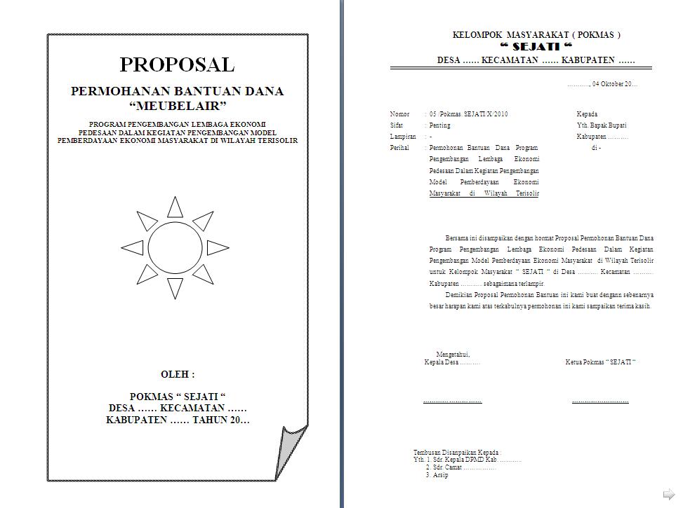 Contoh Proposal Meubelair Lengkap dengan Rencana Anggaran ...