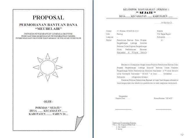 Contoh Proposal Meubelair lengkap dengan Rencana Anggaran Biaya (RAB)