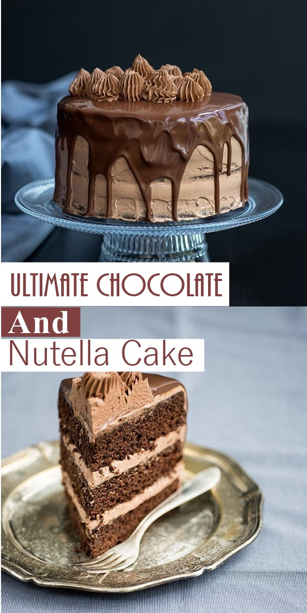 Ultimate Chocolate and Nutella Cake #Cakerecipes
