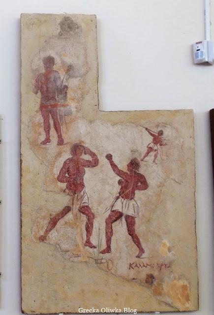 starożytne malowido ścienne Muzeum Delos Grecja Cyklady