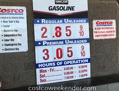 Costco gas for December 16, 2017 at Redwood City, CA