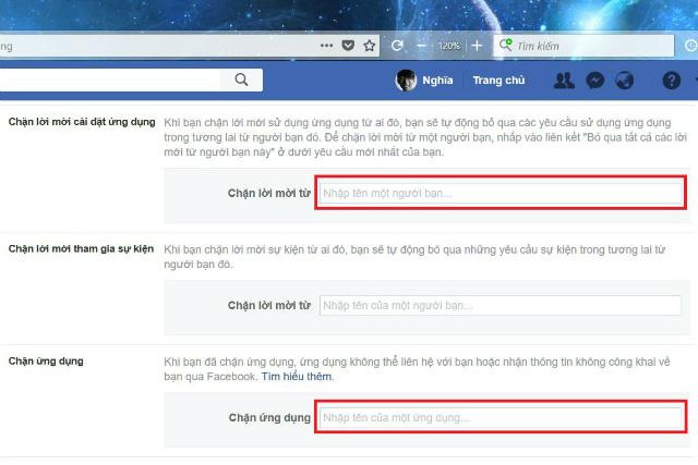 chặn lời mời chơi game trên facebook máy tính 2
