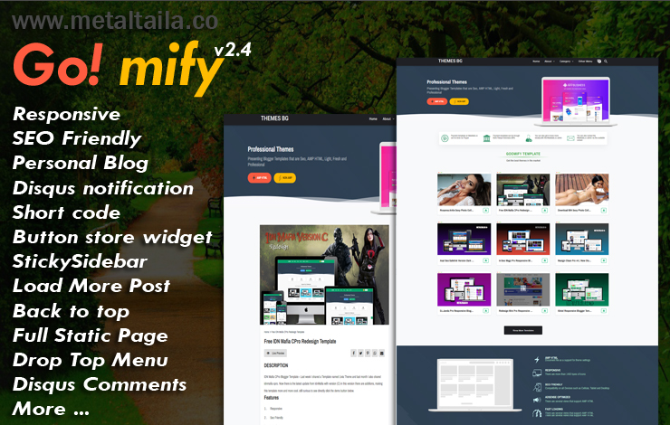 Goomify Pro Responsive Blogger Template - Responsive Blogger Template