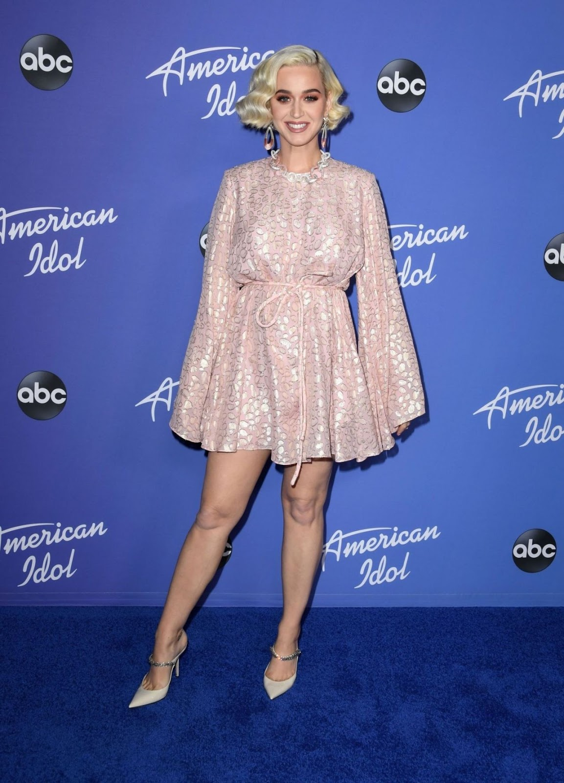 Katy Perry arrives in pink Stella McCartney for the American Idol premiere party in Hollywood