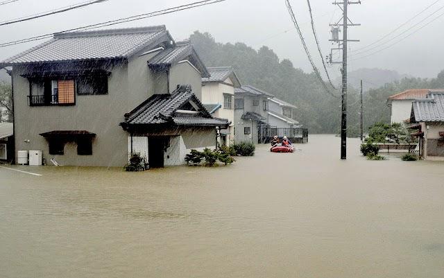 Tufão Hagibis chega ao Japão