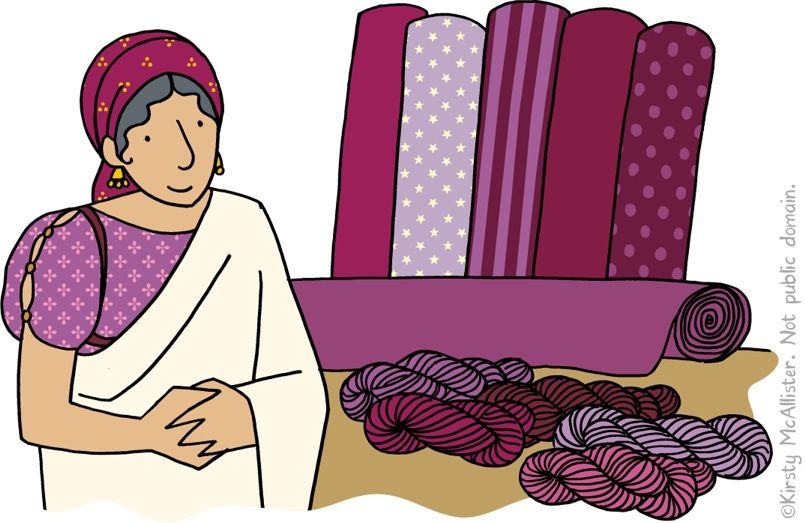 Lydia And The Purple Cloth Coloring Page