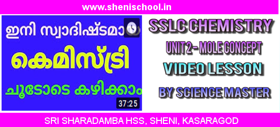 SRI SHARADAMBA HS SHENI: SSLC CHEMISTRY UNIT 2 - GAS LAWS