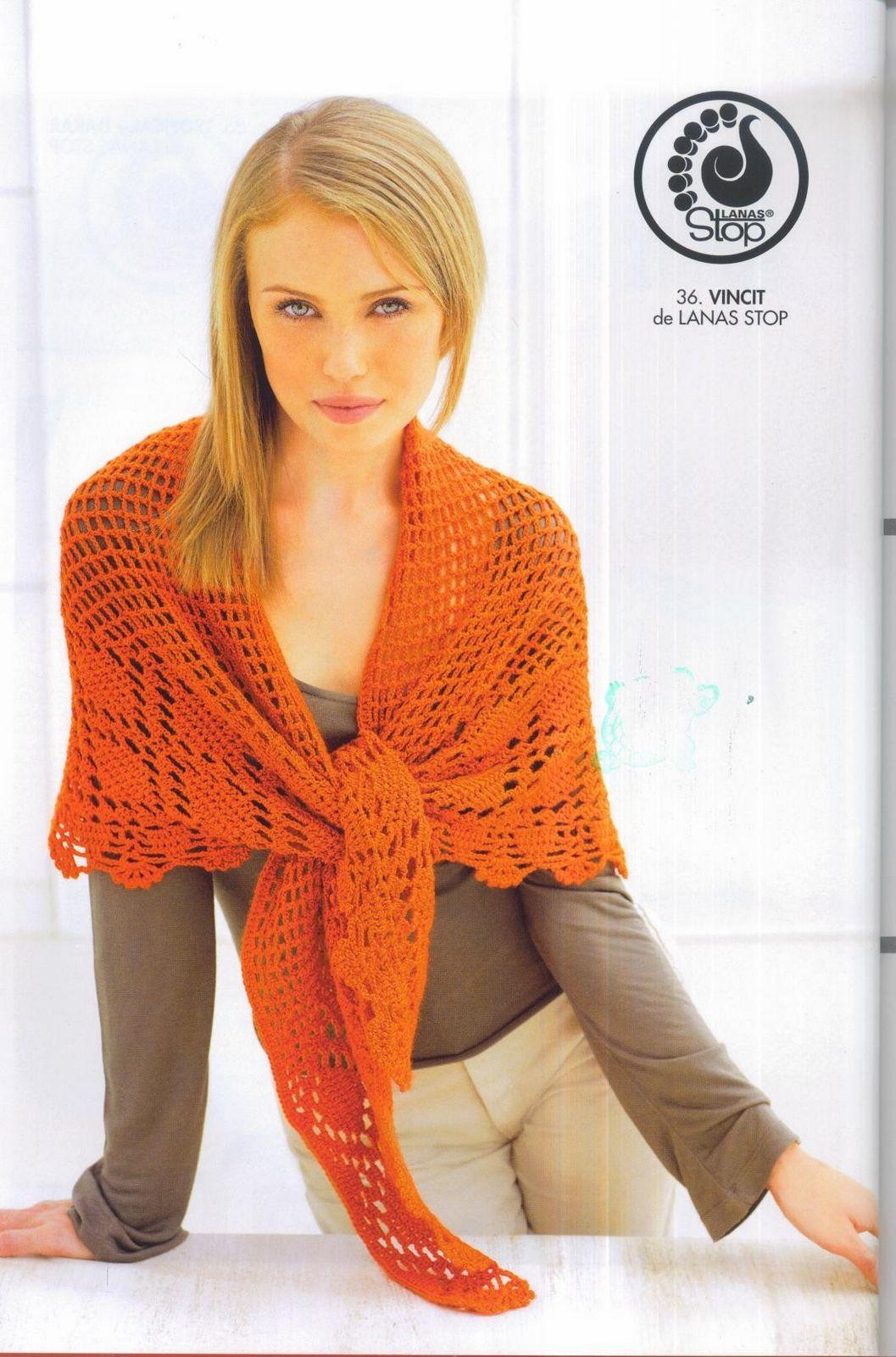 Patrones Crochet, Manualidades y Reciclado: CHALES Y CAPAS ...