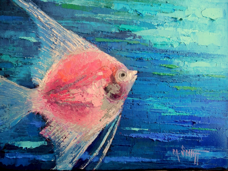Carol Schiff Daily Painting Studio Tropical Fish Oil