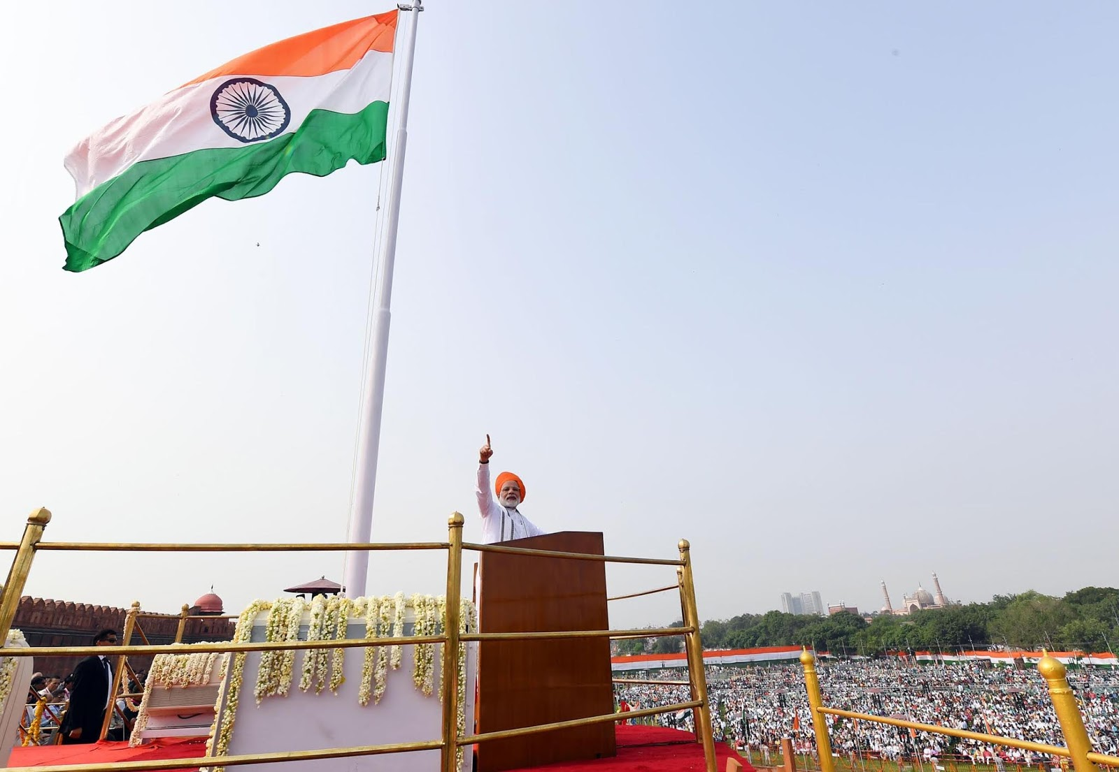 The Prime Minister, Narendra Modi addressing the Nation on the occasion of 72nd Independence Day in Delhi on August 15, 2018