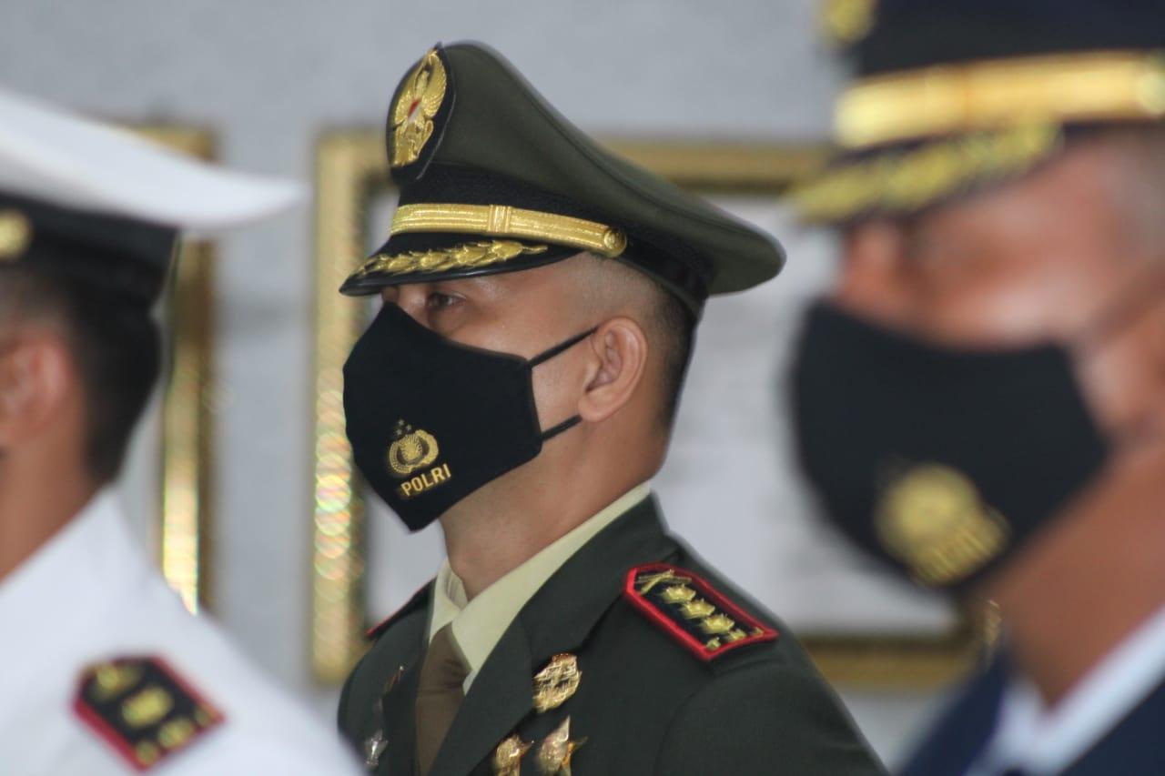 Memperingati Hari Ulang Tahun (HUT) TNI Ke-75 tahun 2020, Dandim 0410/KBL Kolonel Inf Romas Herlandes mengikuti Kegiatan virtual meeting