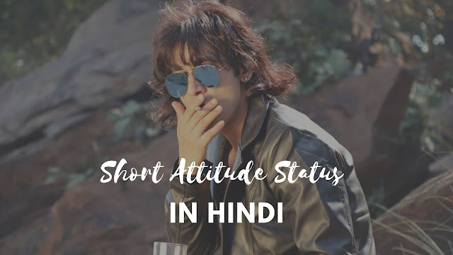 2 lines short attitude status in hindi