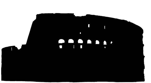Colosseum silhouette side view