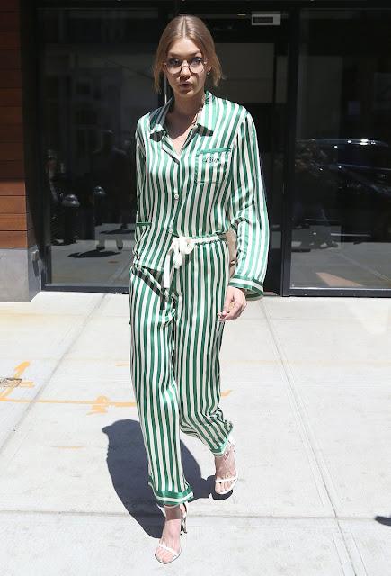 Gigi Hadid in pajamas